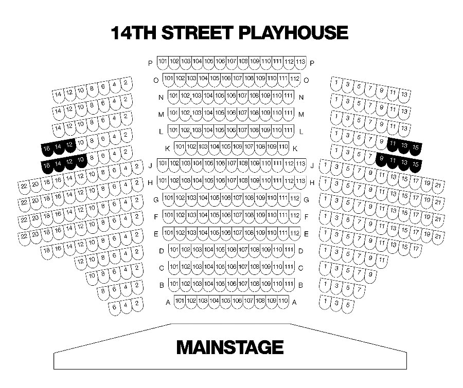 14th Street Playhouse Main Stage Seating Chart