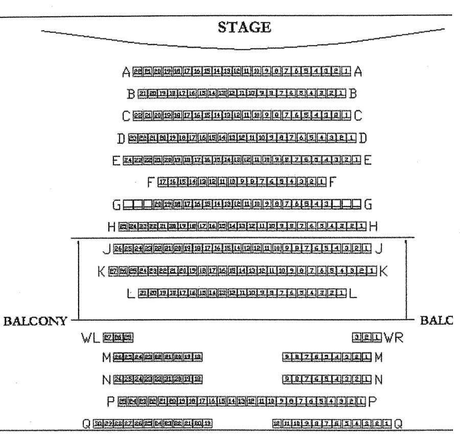 Hosch Theatre Seating Chart
