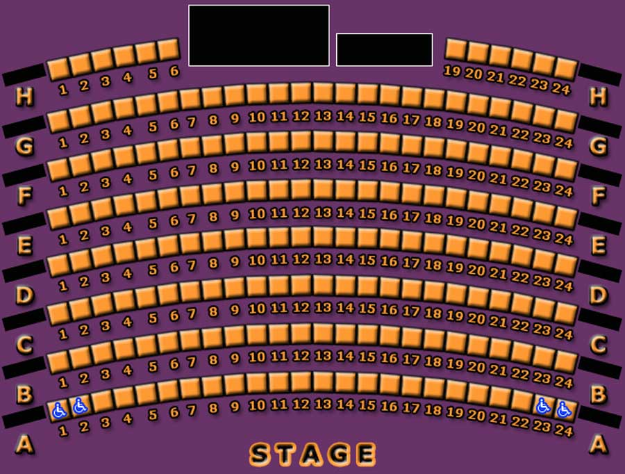 The Legacy Theatre Seating Chart